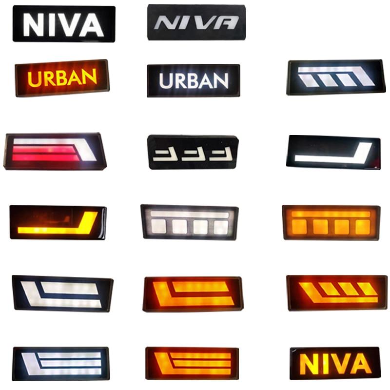 Para Lada Niva 1995- LED luces laterales ámbar blanco protector de luces delanteras intermitente lámparas para Lada Niva Urban 4x4 brinto