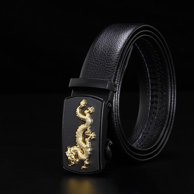 Peikong luxury automatic buckle high quality brand leather male fashion black waist feragamo belt for men designer mens belts