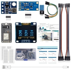 for Arduino Kit Sensor Module with 0.96 Inch OLED LCD Display, Relay, Servo Motor, DHT11 for Startup Projects