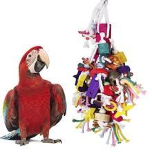 Jouets pour oiseaux oiseau jouet à mâcher perroquet Cage morsure jouets en bois bloc oiseau perroquet jouets pour petits et moyens perroquets et oiseaux
