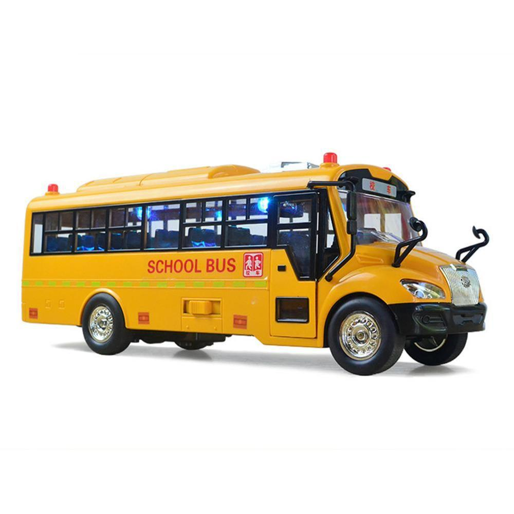 Simulation Inertial School Bus Toys School Car Model Lighting Car Interactive Toys Educational Music For Kids Toys Inertial I8K8 enlarge