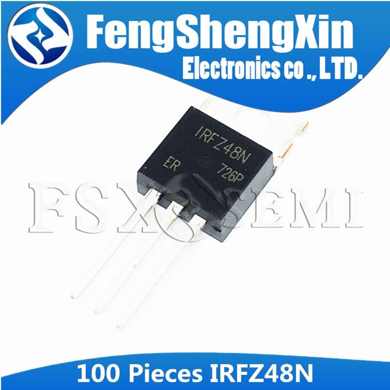 100 قطعة/الوحدة IRFZ48N IRFZ48 إلى-220 N-قناة MOSFET الترانزستور