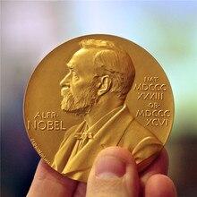 Premio winner in fisiologia o medicina moneta placcata in oro moneta da ritratto con testa paill