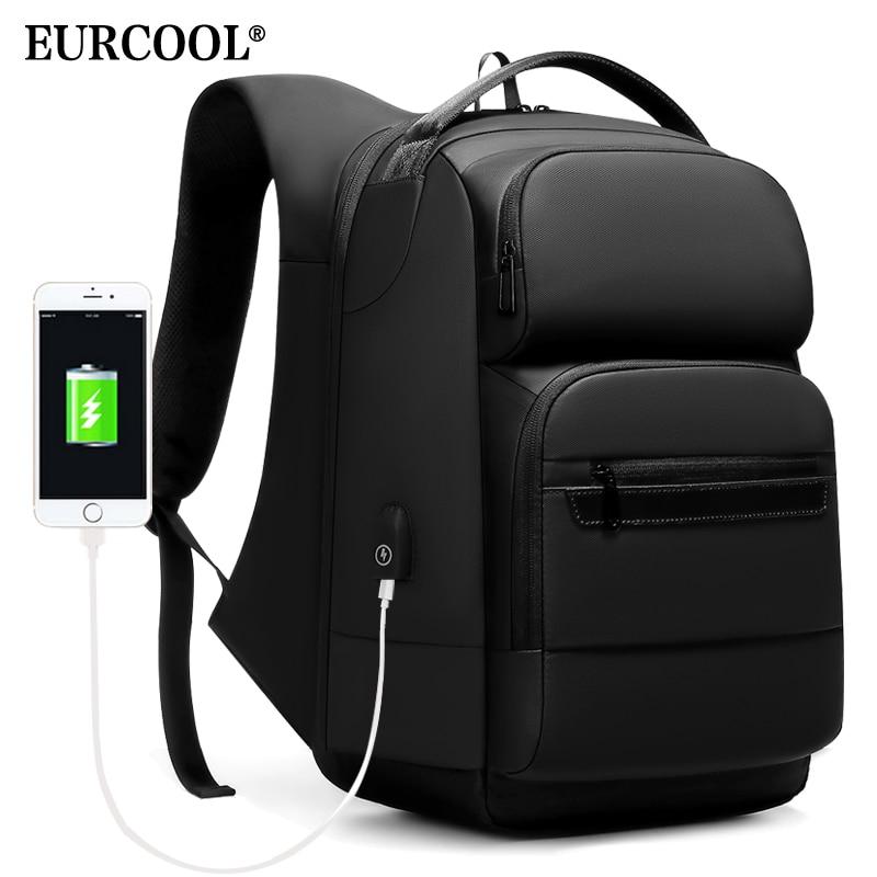 EURCOOL Reise Rucksack Männer Multifunktionale 15,6 zoll Laptop Raum Tasche Mochila Wasser Abweisend Teenager Business Rucksack n1856