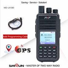 TYT MD-UV380 dijital telsiz çift bant UHF VHF yükseltme MD-390 DM-5R DM-8HX baofeng 5W DMR radyo MD-380 GPS kablosu isteğe bağlı