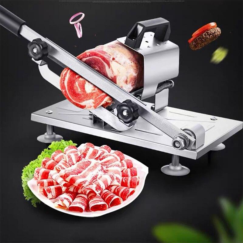 آلة تقطيع يدوية من الفولاذ المقاوم للصدأ ، قواطع لحم الضأن ، لحم البقر ، لوازم المطبخ TN88