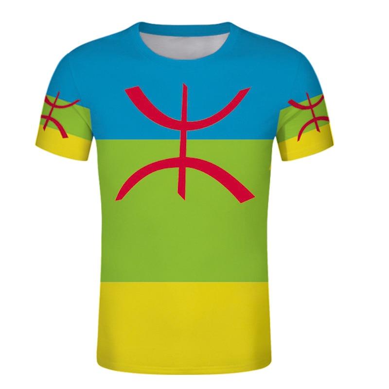 Camiseta kabile personalizada de Argelia, camiseta de algerie country Berbers, impresión étnica de logotipo de ropa, Camiseta deportiva
