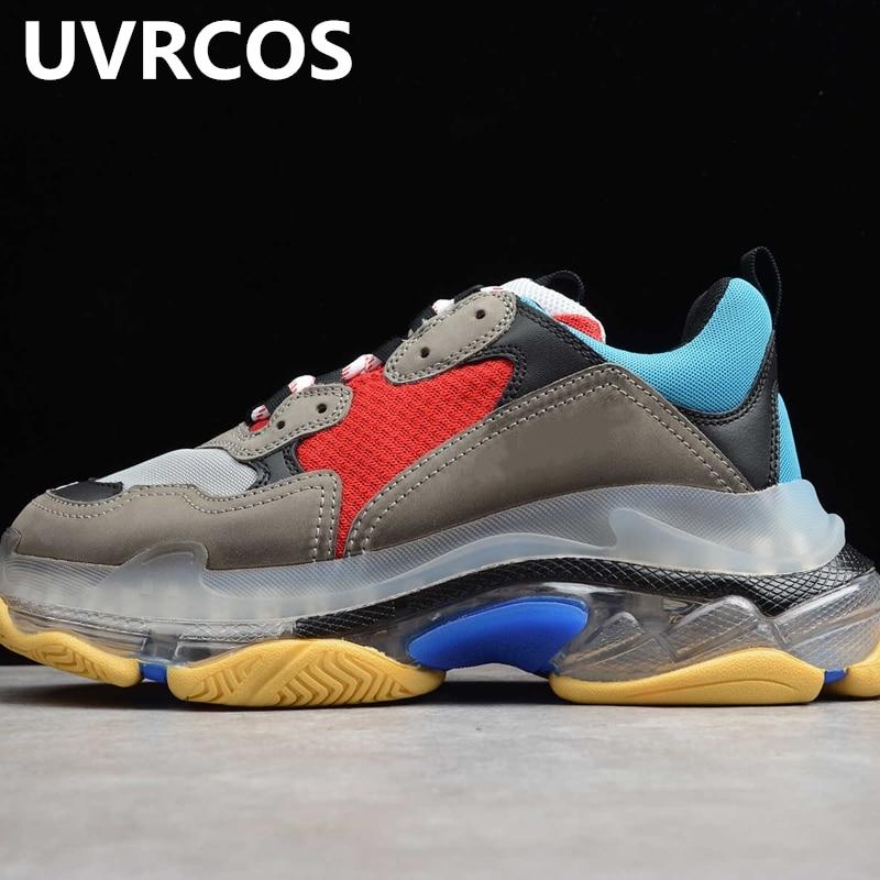 Flambant neuf casual hommes chaussures de haute qualité confortable Meth chaussures de marche Jogging baskets Triple s piste chaussures pour les femmes
