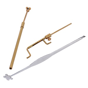 Violin Repair Tool Set Sound Post Set Sound Post Setter Sound Post Retriever Gauge Measurer Luthier Tool Kit (Golden Silver)