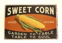 Affiche en etain de mais frais de ferme  signe de Style Vintage  cuisine  maison  marche campagnard