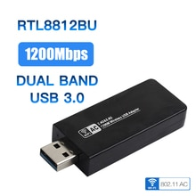 Double bande 802.11ac 1200Mbps USB 3.0 Wifi sans fil-carte ca Realtek RTL8812BU Dongle antennes adaptateur pour Windows 7/8/10/Mac OS