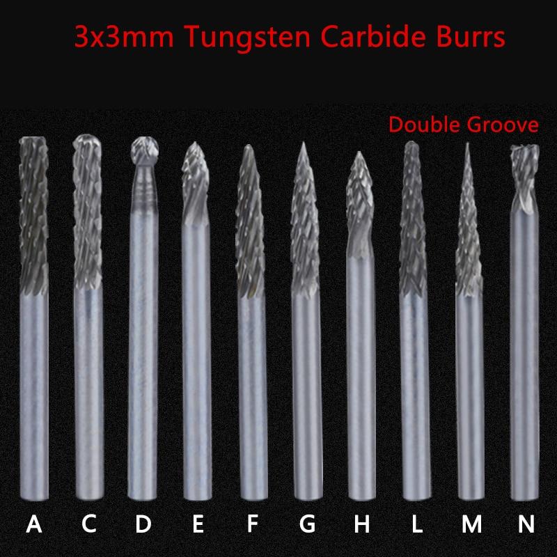 8 pcs set 6mm 12mm tungsten carbide burr bit cnc engraving 1 4 rotary cutter files diy tools Jrealmer 5pcs 3x3mm Double Groove Tungsten Carbide abrasive cutter Rotary Burr Set CNC Engraving Bit