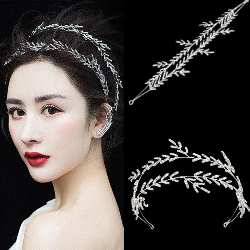Acessórios de Cabelo Lindo Cristal Nupcial Tiaras Bandana Casamento Strass Noiva Hairband 2022