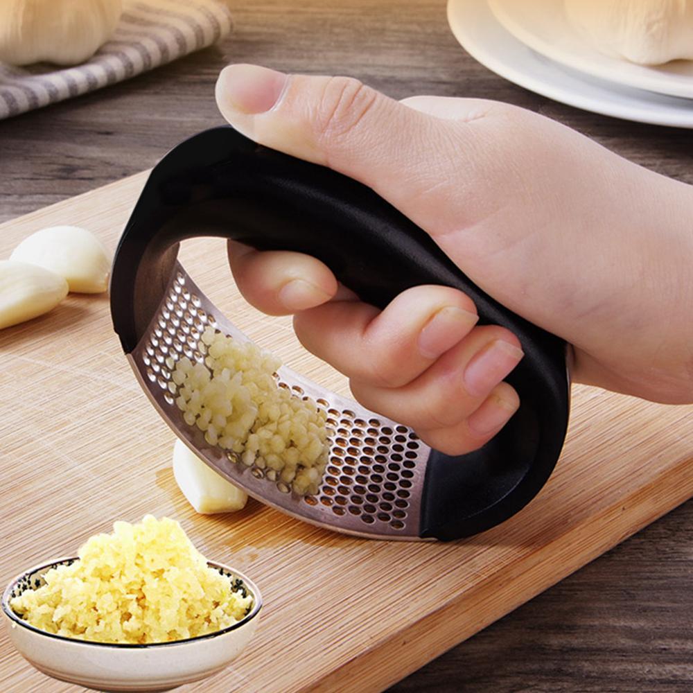 Garlic Presses Grinder Peeler Slicer Chopper Multi-functional Manual Stainless Steel Cutter Kitchen Gadget Cooking Tool dropship