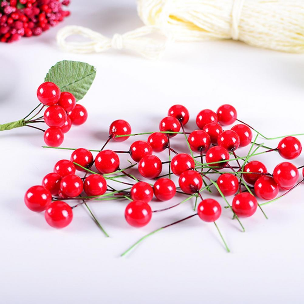 Premium Practical Fake Fruits Artficial Holly Berries Table Decorations Decorative Artificial Cherries Stable for Party бомбер printio berries fruits
