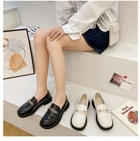 small leather shoes female british style 2021 new soft leather increased japanese jk pedal thick soled retro single shoes