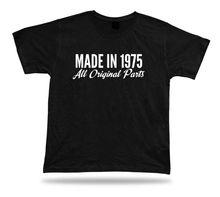 Printed T shirt tee Made in 1975 happy birthday present gift idea original