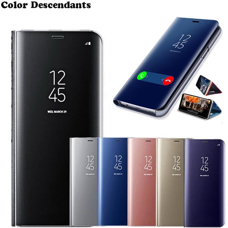 Smart Case For xiaomi redmi note 8 pro 8a Mirror Flip cover xaomi redmi note 7 7a redmi8a redmi8a note7 note8 Stand phone coque