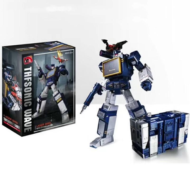 THF transformación G1 Soundwave THF-01J una cinta MP13 figura de acción de aleación Robot modelo de juguete THF01J coleccionable