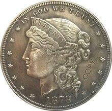 1878 stany zjednoczone 1 monety dolarowe kopia typu 2