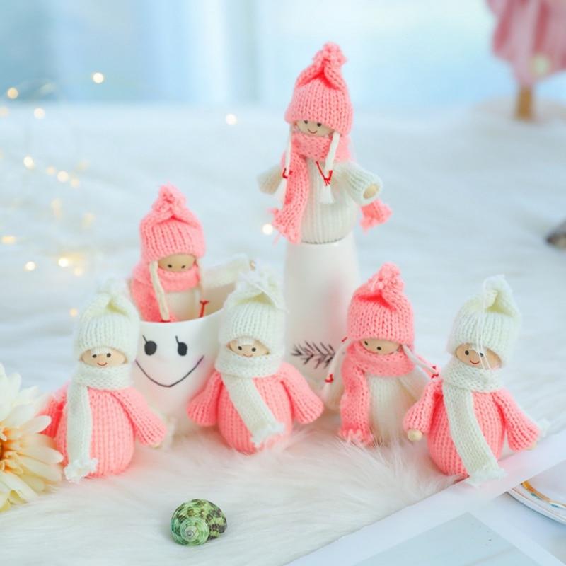 3 unids/set Navidad niña Santa muñeca decoración navideña colgante creativo árbol de...