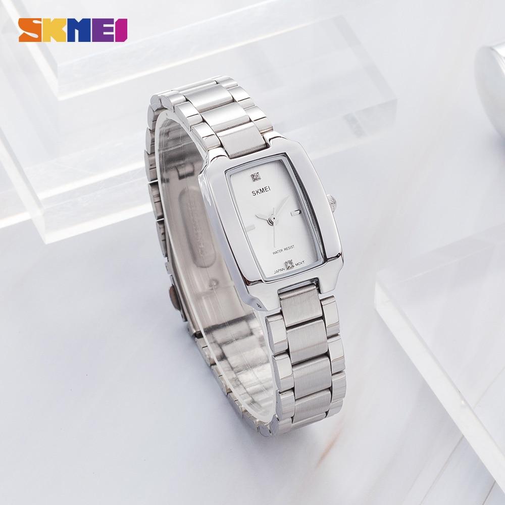 2020 SKMEI Fashion Women Girl Quartz Watch Luxury Diamond Dial Bracelet Ladies Female Wristwatch Elegant Relogio Feminino 1400 enlarge