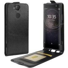 Pour Sony Xperia XA2 étui XA 2 rabat cuir PU haut et bas frappé coloré coque de téléphone pour Sony Xperia XA2 couverture arrière