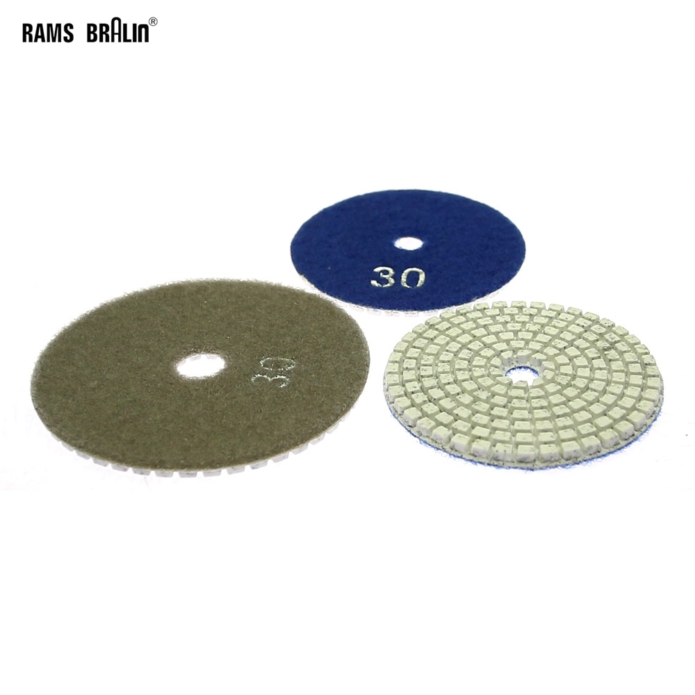 1 pezzo di tampone per lucidare la pietra p30 - p3000 da levigatura grossolana a disco per lucidatura fine