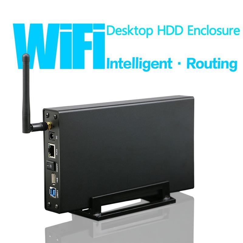 رائجة البيع KIMAX 3.5 بوصة HDD SSD الضميمة موزع إنترنت واي فاي NAS صندوق القرص الصلب شبكة تدفق خادم التخزين للمنزل مكتب الولايات المتحدة