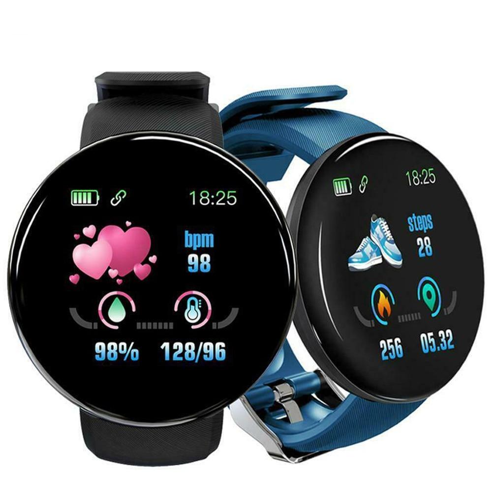 Reloj D18 горячая Распродажа умные часы 2020 для мужчин круглые Bluetooth умные спортивные часы женские водонепроницаемые спортивные часы-трекер