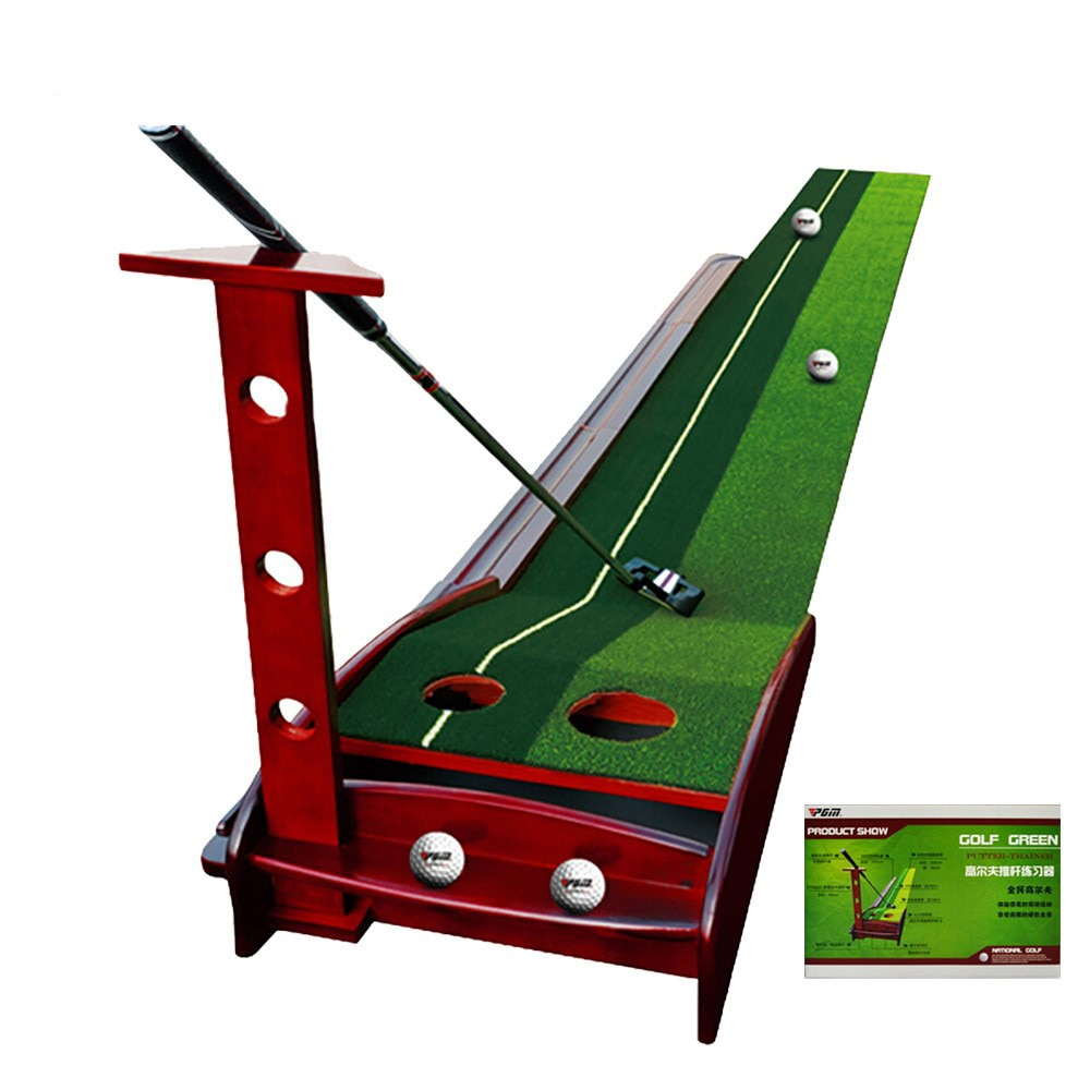 Golf toy Putter Solid Wood Practice Equipment Carpet Household Trainer Golf Practice Putting Automatic Ball Return System