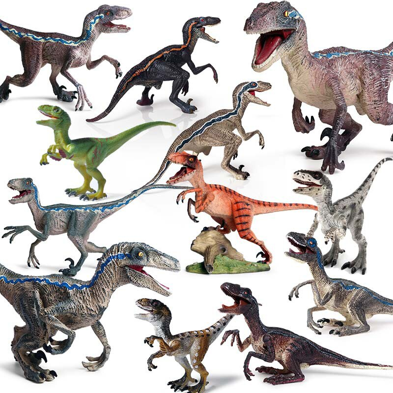 New Action Toy Figure Wild Animal Dinosaur Figurines Velociraptor Carnotaurus Simulation PVC Solid Model Kid Educational Toys