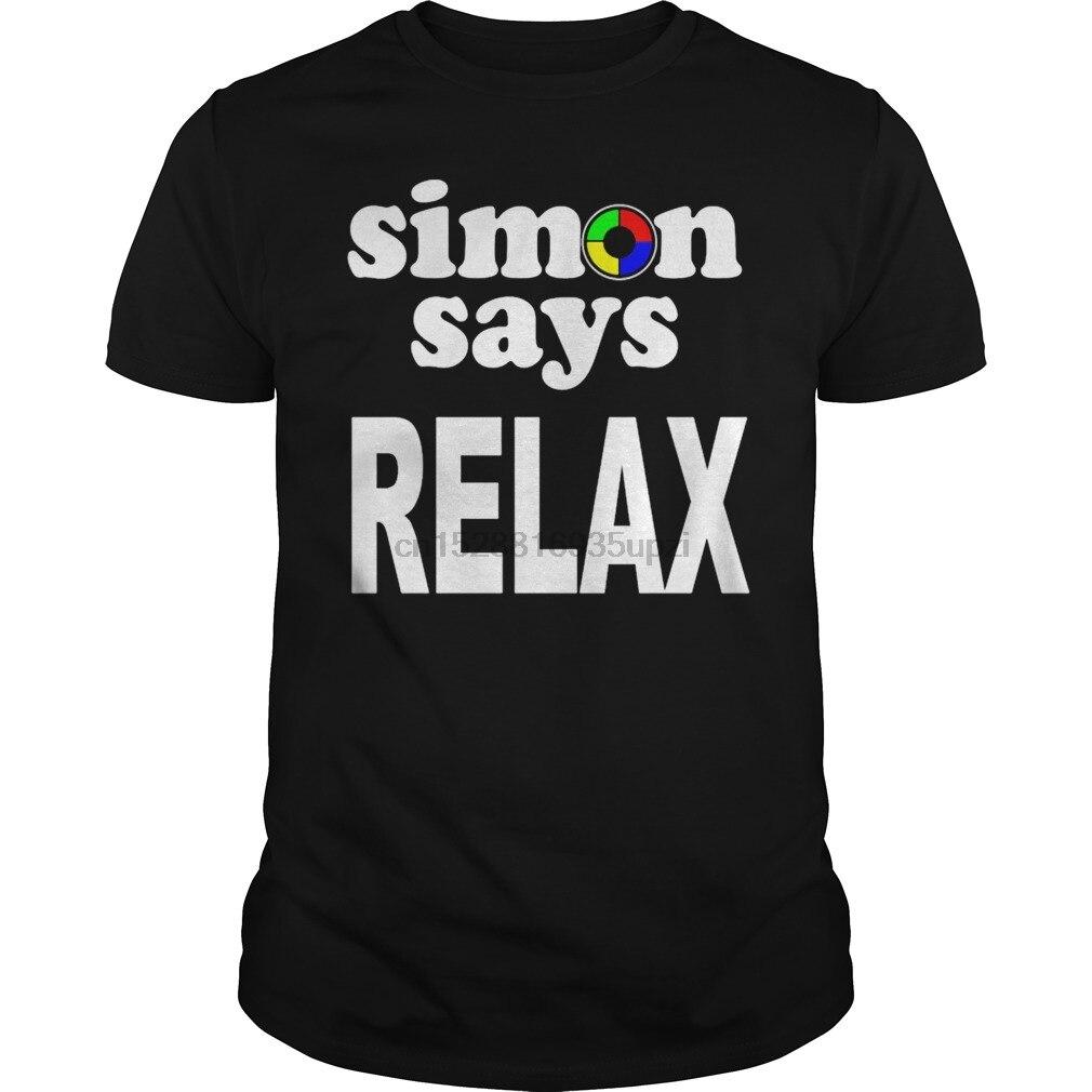 Männer t-shirt SIMON SAGT ENTSPANNEN Hoodie kühle frauen T-Shirt tees top