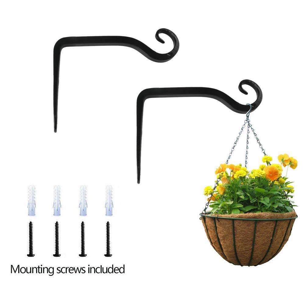 2 uds soporte de suspensión de planta de hierro de alta resistencia ganchos colgador de planta luces pájaro alimentador Artworks decoración interior al aire libre