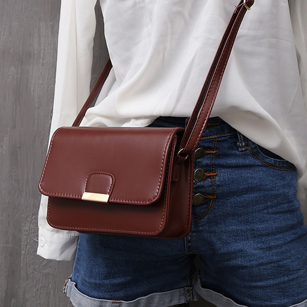 Bolso de cuero de moda para Mujer, bolsos de hombro tipo bandolera,...