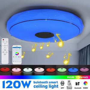 bluetooth LED Ceiling Light 34/39cm RGB Music Speeker Dimmable Lamp Wall Switch+Mobile APP Control+Remote Control Home
