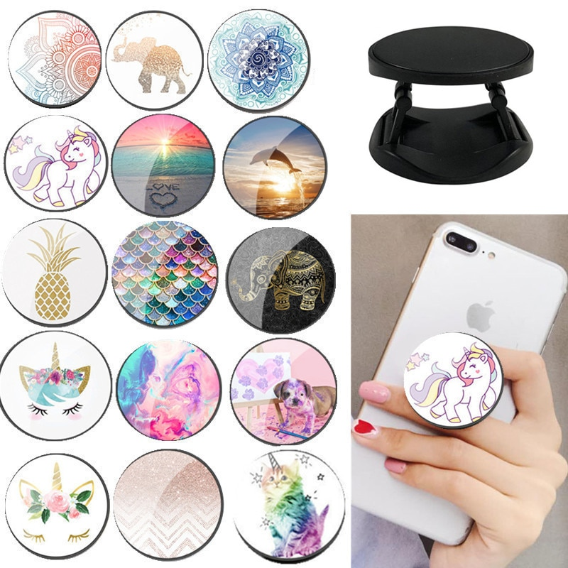 ZUCZUG lovely unicorn Painted Foldable Phone Stand Holders For Smartphones and Tablets Mobile Phone