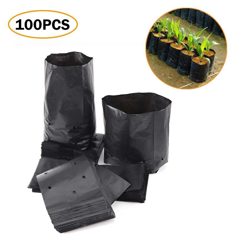 Мешки для выращивания садовых растений, полиэтиленовые мешки для питомника, горшки для рассады с дышащими отверстиями для выращивания фрук...