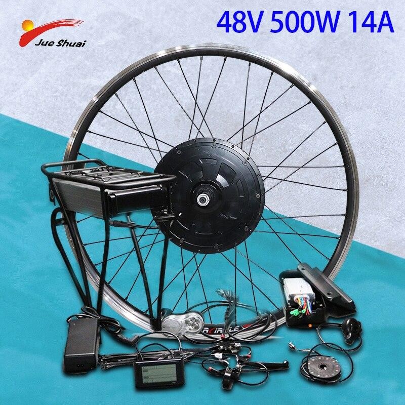 Kit de conversión de Bicicleta eléctrica, Motor de buje delantero de 48V,...