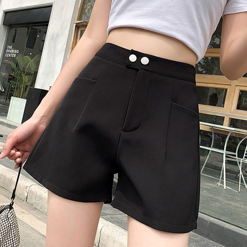 Повседневные Широкие штаны с высокой талией 2021, повседневные свободные шорты для инструментов, тонкие широкие брюки, модные женские шорты и...