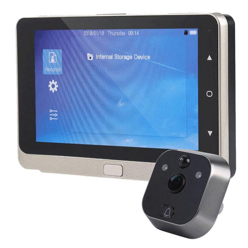 5,0 дюймов OLED дисплей цветной экран дверной звонок зритель цифровой дверной глазок зритель камера дверной глазок видео запись Широкий угол 160
