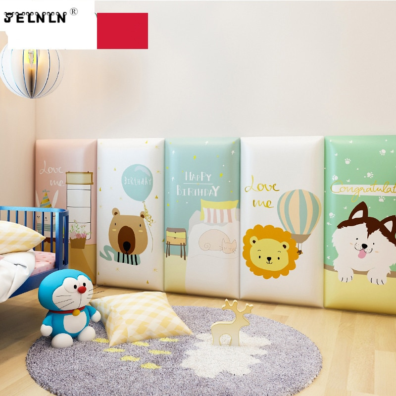 Cartoon animal pattern kids play house soft package kindergarten anti-collision 3d wall stickers tatami foam wall stickers