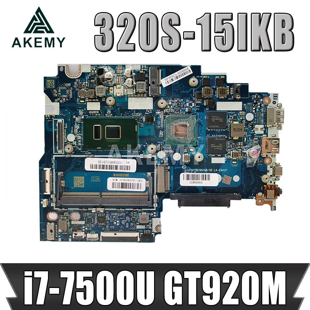 اللوحة الأم للكمبيوتر المحمول Lenovo ideapad 320S-15IKB CIUYA YB SA SB SD LA-E541P اللوحة الرئيسية SR341 i7-7500U CPU 920MX GPU