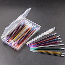 40 pièces effaçable à leau stylo Soluble disparaître tissu marqueur recharges avec boîte de rangement tissu artisanat accessoires de couture