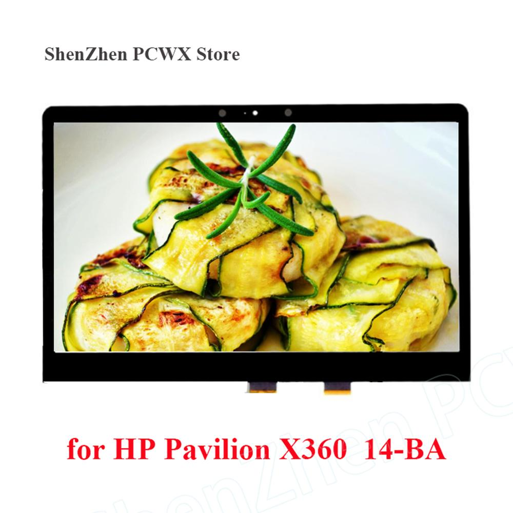 Para HP Pavilion X360 14-BA Digitalizador de pantalla táctil 14,0, montaje LCD + marco pequeño, tablero táctil HD 1366*768, pantalla Original de 30 pines