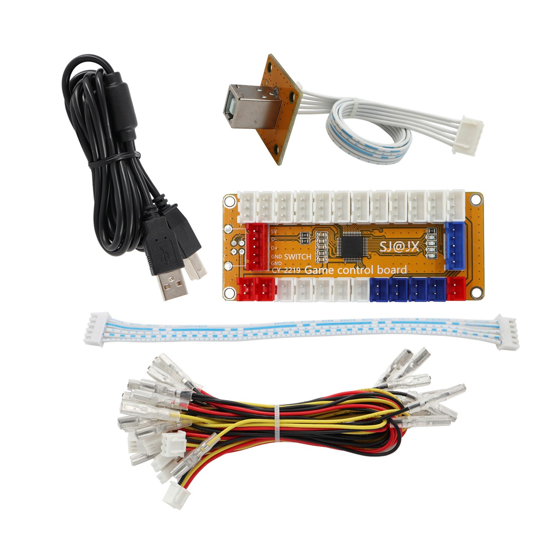 SJ @ JX juego de Arcade USB codificador cero retraso Gamepad LED Botón Joystick controlador para Nintendo interruptor PC PS3 Raspberry Pi 2219P