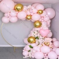 94pcs pink hert balloon garland wedding decoration macaron baby pink 4d gold balloon arch baby shower birtyday party decor