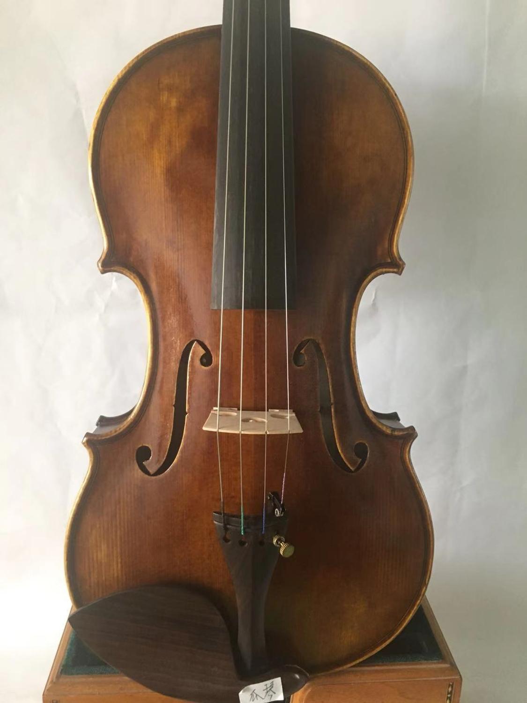 Máster 4/4 violín flameado Arce viejo abeto top guardneri violín