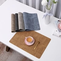 pu oil water resistant japan style non slip kitchen placemat coaster insulation pad dish coffee cup table mat home decor 51029