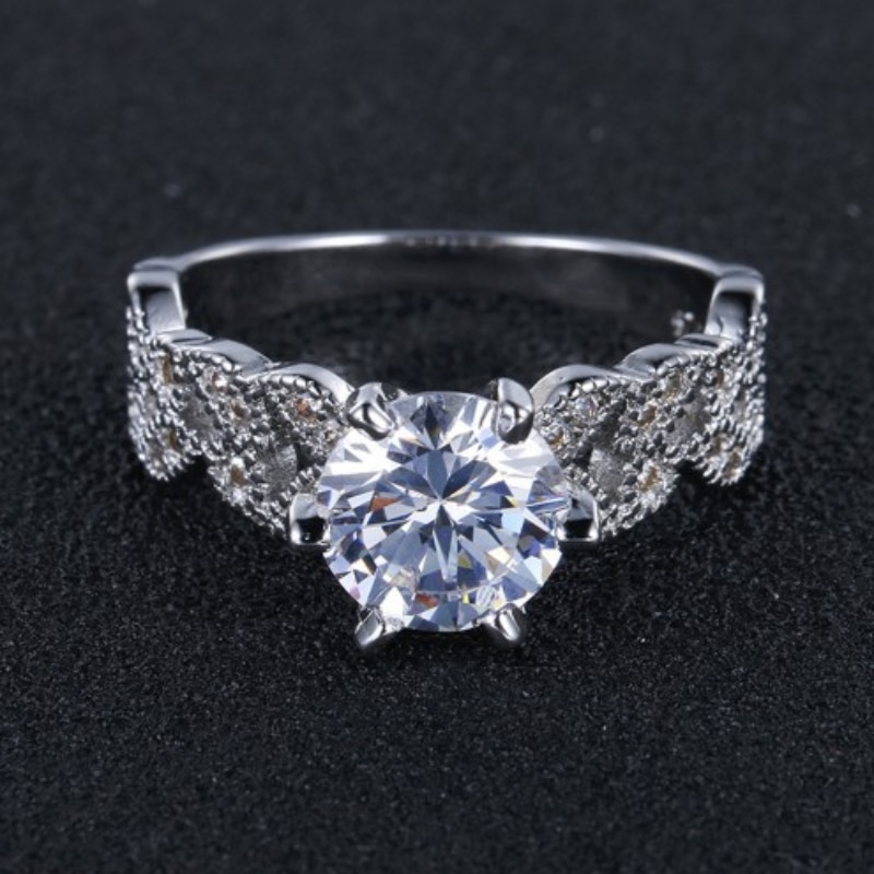 Sterling Silver 925  Wedding Rings for Women Diamond Ring Engagement Rings Womens Rings Jewelry